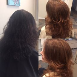 Photo of Salon A & Spa - Commack, NY, United States. Before and after color correction for our beautiful client with very natural highlights